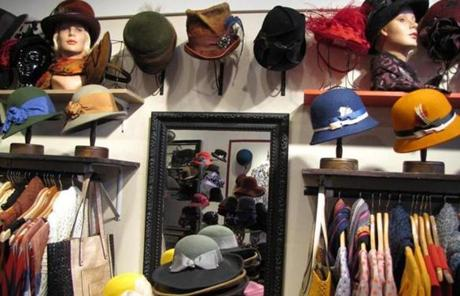 Hats were on display at Salmagundi.